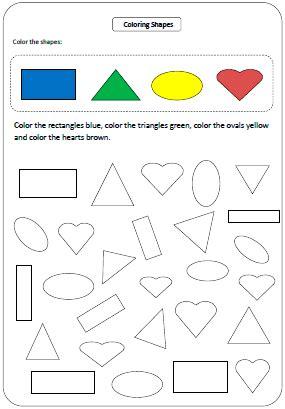 Shapes Worksheets And Charts