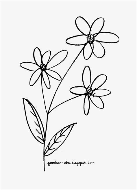 mewarnai bunga mudah sederhana