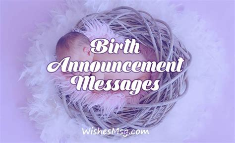 birth announcement messages  wording ideas wishesmsg