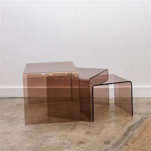 Table En Plexiglas : table gigogne plexiglas elegant incroyable table de salon plexiglass table basse en plexiglas ~ Teatrodelosmanantiales.com Idées de Décoration