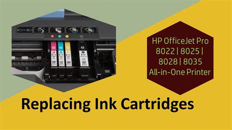 The full solution software includes everything you need to install and use your hp printer. HP OfficeJet 8022 | 8025 | 8028 | 8035 Printer : Replace the Ink Cartridges - YouTube