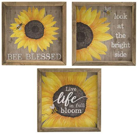 bee blessed sunflower box sign  asstd