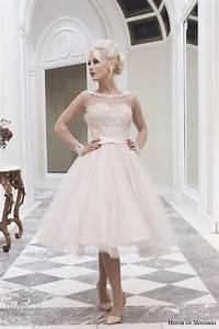 house of mooshki fall 2014 wedding dresses wedding inspirasi With blush tea length wedding dress