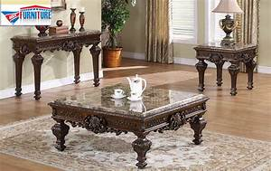 3 pc victorian occasional set with marble top With victorian coffee table set