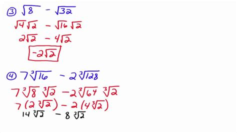 adding and subtracting radicals