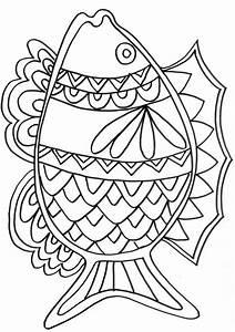 Dessin De Plume Facile : coloriage poisson mandala dessin gratuit imprimer ~ Melissatoandfro.com Idées de Décoration