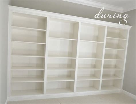 bookcases that look built in ikea billy bookcases made into built ins perfect for a