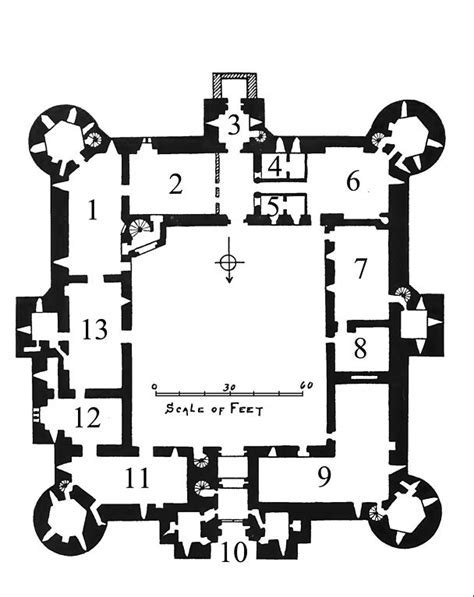 File:Bodiam Castle ground plan, Archaeological Journal