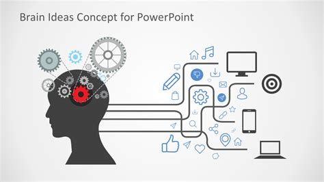 brain ideas concept powerpoint shapes slidemodel