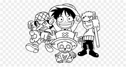 Piece Luffy Coloring Robin Drawing Nico Cool