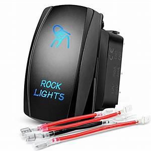 Nilight Led Light Bar Rocker Switch Stereo Rocker Switch 5