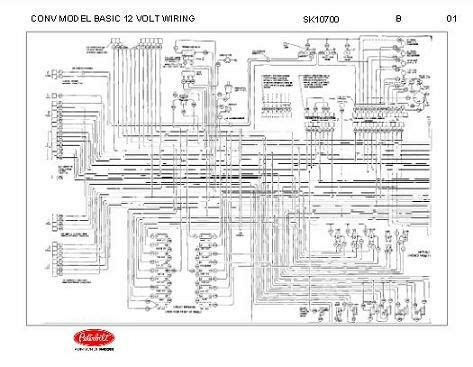 Wiring Schematic by Peterbilt 348 Conventional Models Basic 12 Volt Wiring