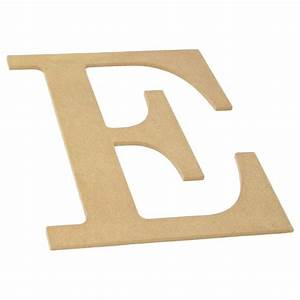 10quot decorative wood letter e ab2029 craftoutletcom With wooden letter e