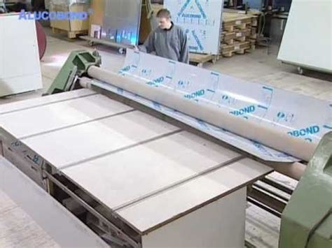 alucobond bending process youtube
