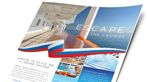 travel tourism brochures flyers word publisher