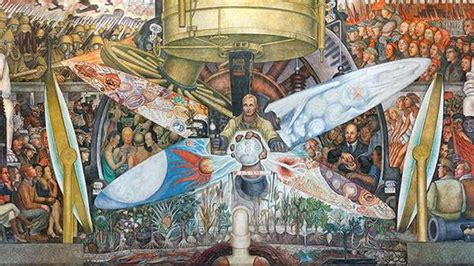 destroyed by rockefellers mural trespassed on political