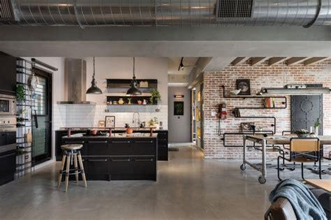 23 Open Concept Apartment Interiors For Inspiration : Industrial Apartment Interior Design, Taiwan