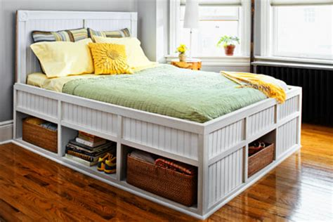 how to build platform bed frame with storage diy woodworking project