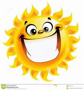 Extremely Happy Cartoon Yellow Sun Excited Character ...