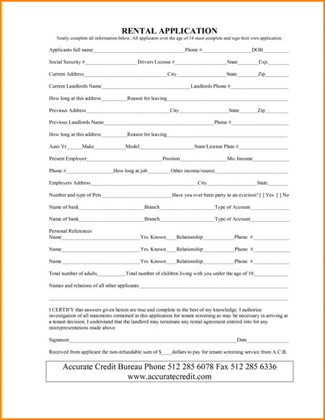 17478 tenant lease form lease agreement template template trakore document templates