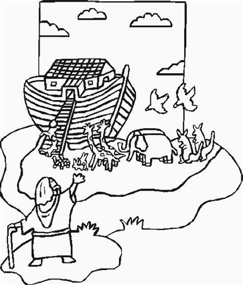 Kleurplaat Regenboog Ark Noach by Knutselidee Ark Noach 2 Dieren Gaan In De Ark