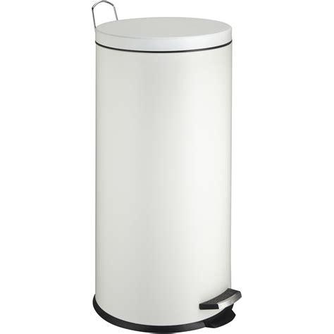 leroy merlin poubelle cuisine poubelle de cuisine à pédale frandis métal blanc 30 l