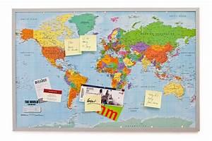 Weltkarte Auf Pinnwand : pinnwand weltkarte aus cork mit 20 markierf hnchen 90 x 60 cm ~ Markanthonyermac.com Haus und Dekorationen