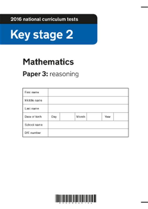 ks maths paper  reasoning  ks maths sats