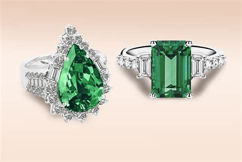 emerald engagement rings images