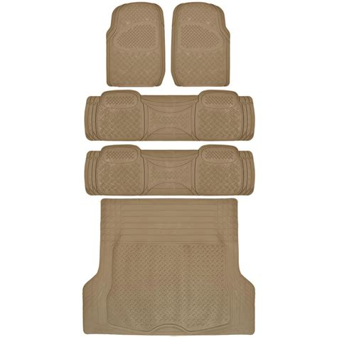 floor mats suv suv floor mat for 3 row car all weather beige trimmable semi custom w trunk mat ebay