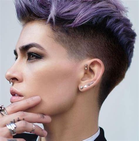 capelli corti idee rock  alla moda  il  glamourit
