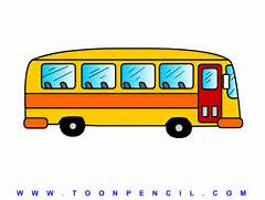 Learn How to draw a Bus for kids  step by step  kids Bus Drawing      Bus Drawing