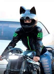 motorcycle helmet with cat ears the world s catalog of ideas