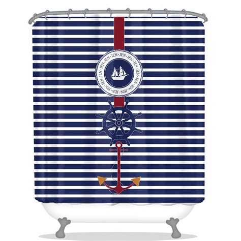 Nautical Personalized Shower Curtain  Anchor Personalized