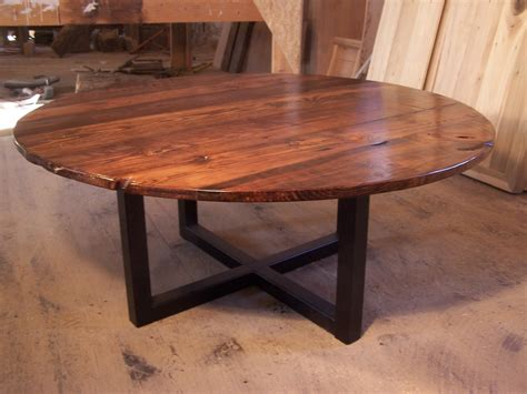 large round table free shipping large round coffee table with industrial metal