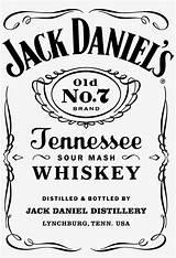 Whiskey Jack Daniels Bottle Label Clipart Nicepng sketch template