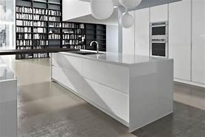 Meuble De Cuisine Blanc Laqué : meuble de cuisine laque blanc ~ Teatrodelosmanantiales.com Idées de Décoration
