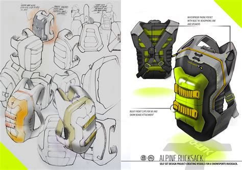 backpack rucksack industrial design concept ideation sketch backpack industrial design