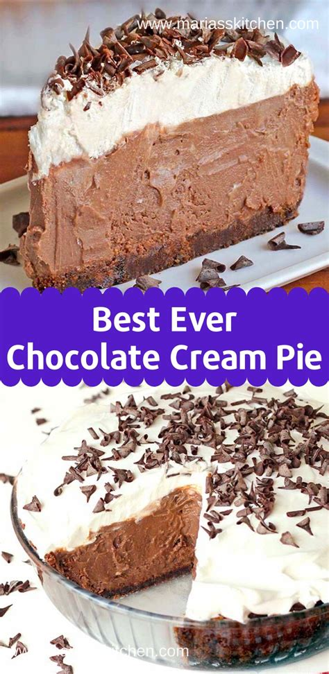 easy  delicious chocolate cream pie recipe marias