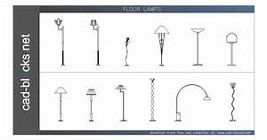 Ilumination cad blocks floor lamps in elevation view for Floor lamp cad block