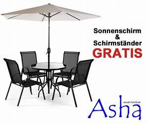 Heizstrahler Für Sonnenschirm : runder gartentisch mit 4 st hlen und sonnenschirm saragossa 360 99 ~ Frokenaadalensverden.com Haus und Dekorationen