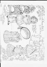 Paper Dolls Coloring Doll Mccook Helen Peace Google Bard Picasaweb sketch template