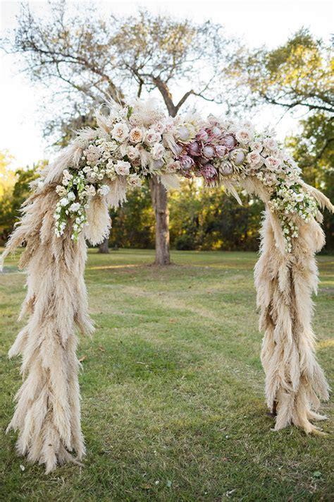 Texas Wedding Featuring Pampas Grass Decor   Mon Cheri Bridals