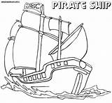 Pirate Ship Coloring Pages Ocean Pirateship Colorings sketch template