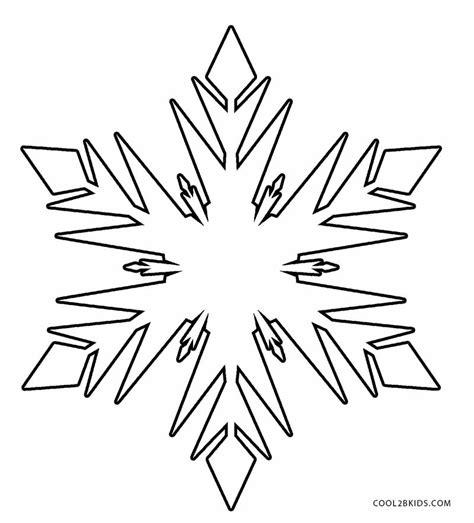 printable snowflake coloring pages  kids coolbkids