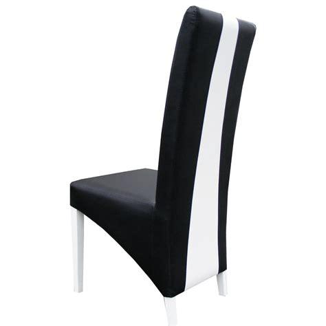 chaise moderne blanche salle a manger noir blanc