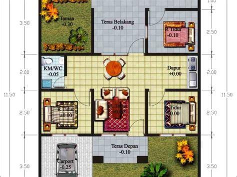 denah rumah minimalis luas tanah  desain rumah