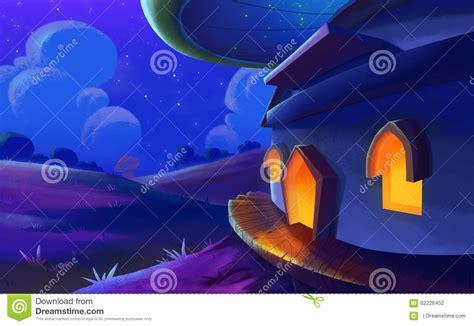 beautiful night   fantastic land stock
