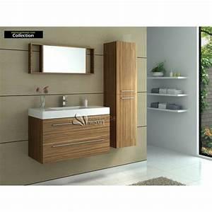 meuble salle de bain avec simple vasque erable achat With meuble sdb vasque