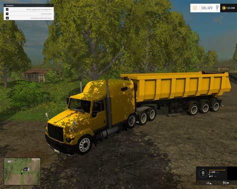 gaz titanium truck  trailer   farming simulator